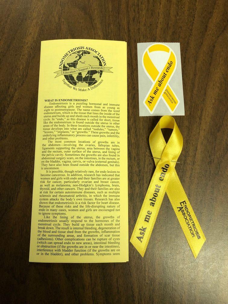 ribbon sticker brochure picture